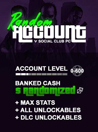 GTA V Modded Account Random PC Social Club