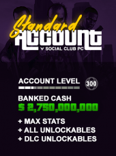 GTA V Modded Account Standard PC Social Club