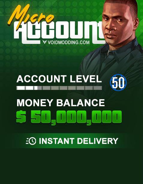 GTA V Xbox One Micro Modded Account