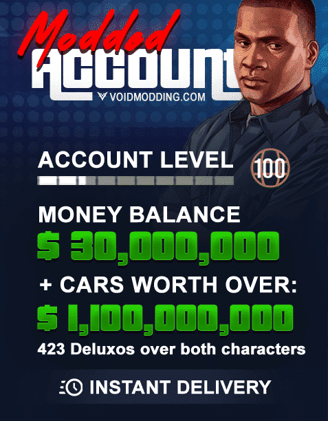 GTA V Playstation 4 Modded Account